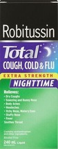 ROBITUSSIN Total Extra Strength Night Time - Cough, Cold & Flu 240ml LIM... - $23.12