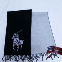 VTG Polo Ralph Lauren Scarf Winter NWT Big Pony Italy Lambswool 90s Eque... - £56.81 GBP