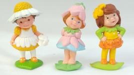 Vtg Avon 3 Flower Girl figures Daisy Dreamer Scamper Lilly Little Blosso... - $14.84