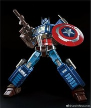 LEWIN RESOURCES LEWIN-01A MP10 Oversized OP Prime Captain America Action... - $527.23
