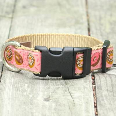 Donuts for Her Jacquard Adjustable Dog Collar / Made in Japan