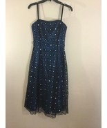 Used Womens Adrianna Papell Cocktail Lace Embellishment Black Special Ev... - $39.49