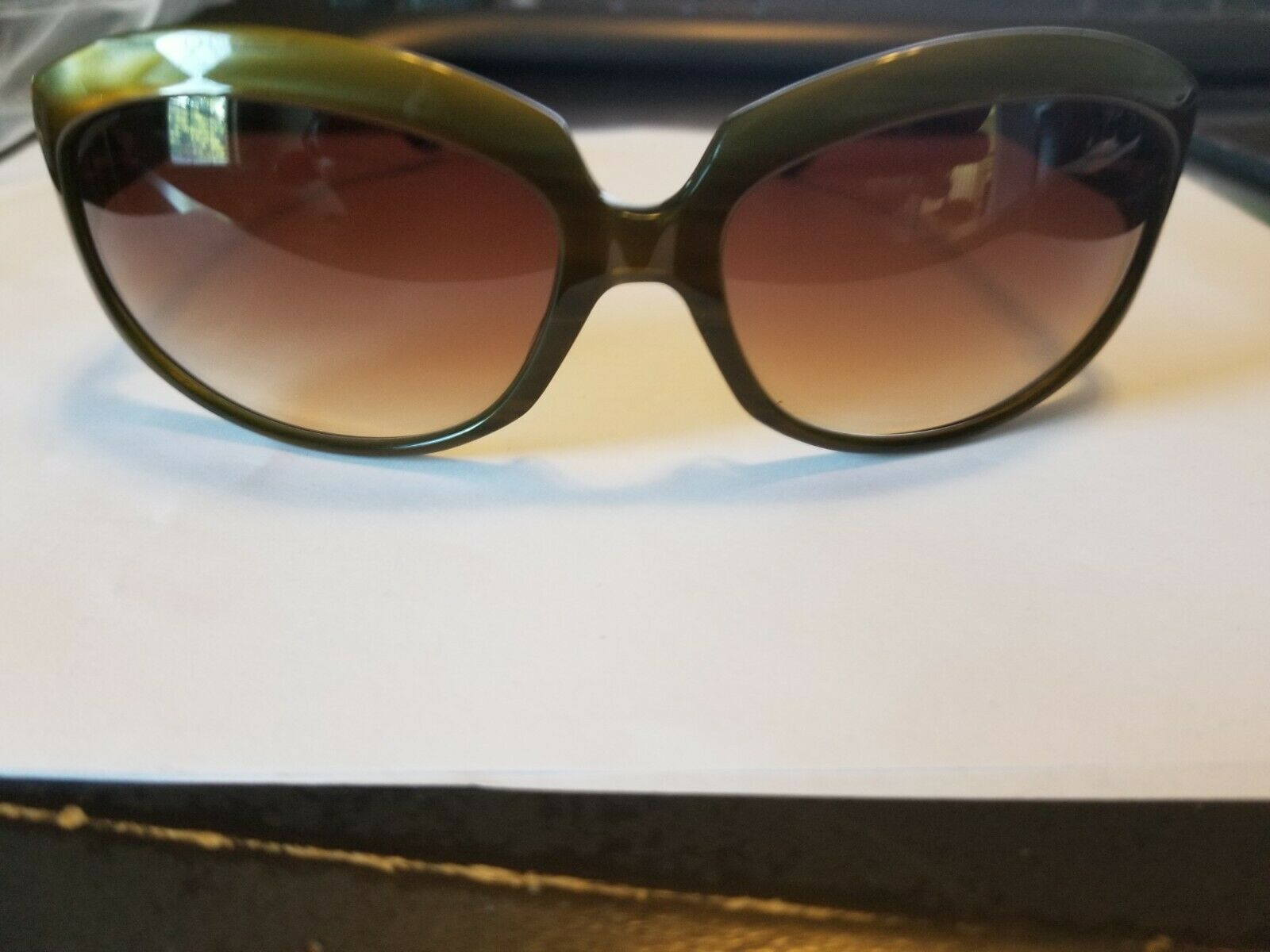 Oliver Peoples sunglasses 63-17-120 La Donna JA Green 8770..BRAND NEW AUTHENTIC image 1