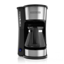 BLACK+DECKER 5 Cup 4-in-1 Station Stainless Steel Coffee Maker, CM0750S - $29.99
