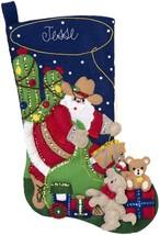 "Bucilla Felt Stocking Applique Kit 18"" Long-Christmas Round-Up - $31.86"
