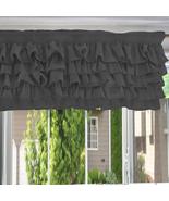 Chiffon GREY Ruffle Layered Window Valance any size  - $29.99+