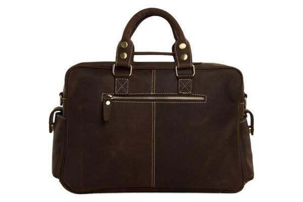 On Sale, Natural Leather Men's Travel Bag, Laptop Bag, Men Leather Briefcase image 4