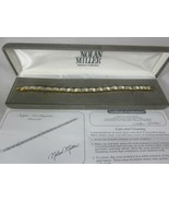 "Nolan Miller Steppin Out Baguette Bracelet Gold Tone 7"" - $29.69"