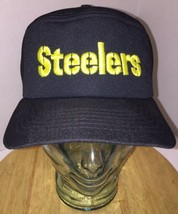 Vintage 70s 80s PITTSBURGH STEELERS Black Pillbox Hat Cap Snapback New E... - ₹3,394.63 INR