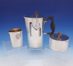 Hermann Danish Sterling Silver Coffee Set 3 Piece Coffee Sugar Creamer (#3136) - $2,295.00
