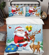 3D Christmas  Xmas 323 Bed Pillowcases Quilt Duvet Cover Set Single Queen King - $64.32+