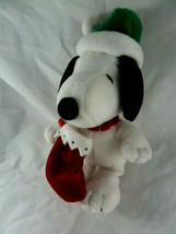"Hallmark Christmas Snoopy Lovey 9"" Soft Plush Doll with hat and stocking  - $8.90"