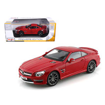 2012 Mercedes SL 63 AMG Red 1/18 Diecast Model Car by Maisto 36199r - $51.01