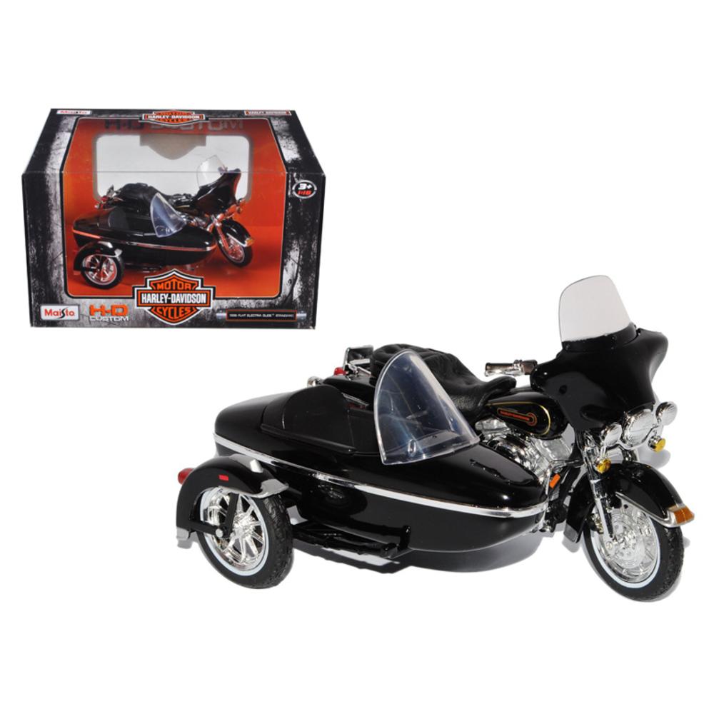 1998 Harley Davidson FLHT Electra Glide Standard with Side Car Black 1/18 Diecas
