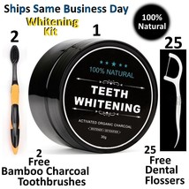 100% ORGANIC COCONUT ACTIVATED CHARCOAL NATURAL TEETH WHITENING POWDER U... - $8.99