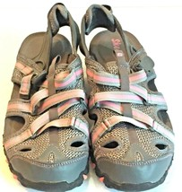 Skechers Women's Gray And Pink Hiking Sandals Size 7 Mint Free Shipping - $29.17