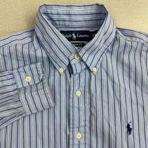 VTG Ralph Lauren Button Up Shirt Mens M Blue Long Sleeve Classic Fit Str... - $22.95