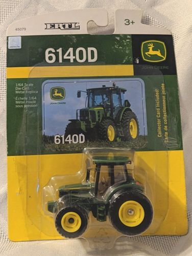 John Deere TBE45079 ERTL 6140D Die Cast Metal Replica Tractor