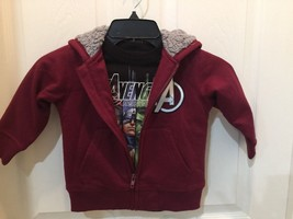 Marvel Avengers Coat/Jacket Hooded Zippered & Jersey Size 3T 2-piece - $15.26