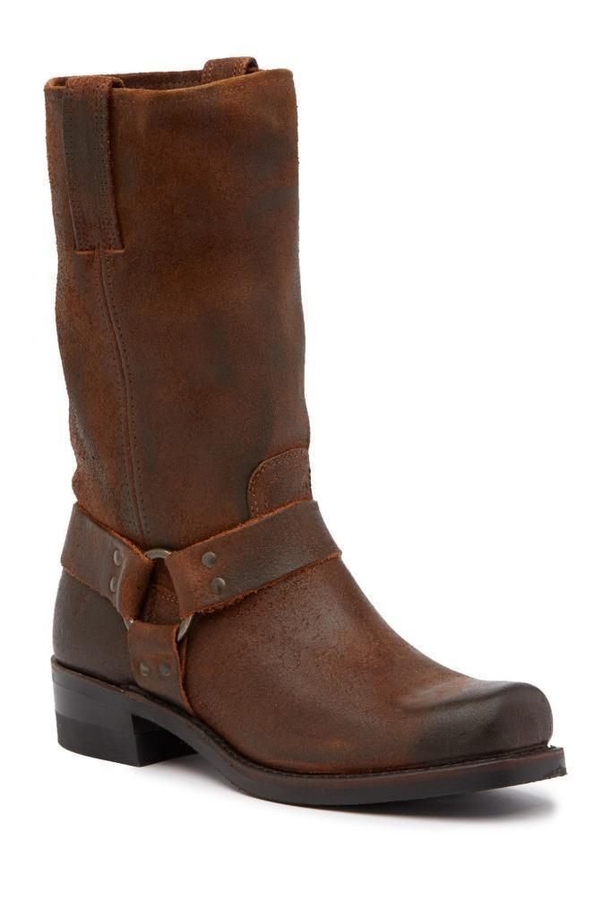 New in Box - $358 FRYE Harness 12R Brown Leather Motorcycle Boot Size 9 - $3.839,18 MXN