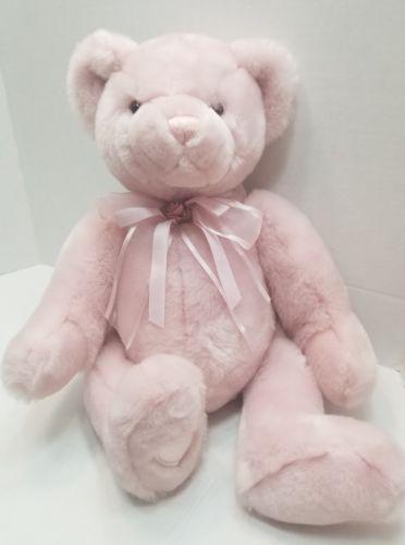 "COMMONWEALTH Soft Stuffed Animal TEDDY BEAR Plush/Toy Pink 17"""