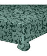 Bordeaux Floral Vinyl Table Cover-60-84-Green - $26.23