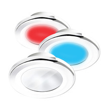 i2Systems Apeiron A3120 Screw Mount Light - Red, Warm White  Blue - White Finish - $116.00