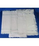 Placemats, Place Mats, Frayed Edging, 19 1/2 x 14 - $8.00