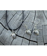 Tropicalia Handcrafted Necklace Earrings Sea Turtles Tibetan Silver Char... - $1.50+