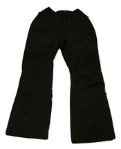 Lands End Kids Youth Ski Snow Pants Size 10 Black Squall Grow Alongs - $24.74