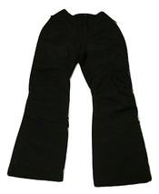 Lands End Kids Youth Ski Snow Pants Size 10 Black Squall Grow Alongs - $24.74