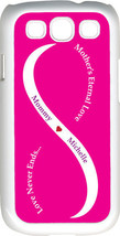 Fuchsia Pink & White Mother's Love with Purple Names Samsung Galaxy S3 Case - $14.04
