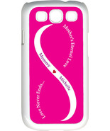 Fuchsia Pink & White Mother's Love with Purple Names Samsung Galaxy S3 Case - $15.95