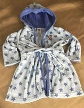 Carter's Child Of Mine Baby Bathrobe One Size Monkey Stars Pattern Unisex - $7.47