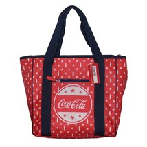 Forever Collectibles Red Insulated Coca-Cola Cooler Bag Tote Bag with Bo... - $61.39