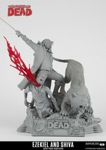 THE WALKING DEAD Ezekiel and Shiva Artist Proof Statue Number 5 of 50 L.E. - $300.00