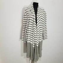 Talbots Womens Cardigan Blouse 3X Stripe Cotton Modal Open Front Lightwe... - $27.08