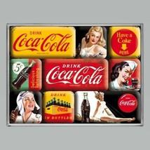 Coca-Cola Magnets! Drink Coke Bottles Retro Diner 9 Piece Magnet Gift Set - $11.06