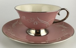 Flintridge SNOW TULIP cup & saucer ( 10 available ) (SKU EC 122) FREE SH... - $15.00