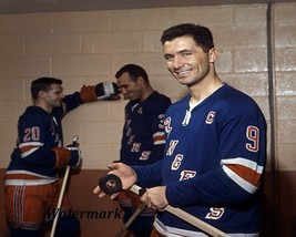 1963 New York Rangers Captain Andy Bathgate in Dressing Room Color 8 X 1... - $6.99