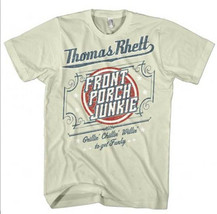 Thomas Rhett T-shirt Front Porch Junkie country music grey cotton graphic tee image 2