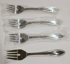 "Brand New Lot Of 4 Oneida American Harmony 6-3/4"" Salad Forks 18/0 Stainless - $10.88"