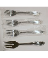 """Brand New Lot of 4 ONEIDA AMERICAN HARMONY 6-3/4"""" SALAD FORKS 18/0 STAIN... - $10.88"""