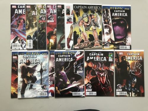 Lot of 14 Captain America (2004 5th Series) #600-612
