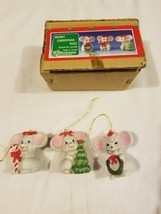 House Of Lloyd Merry Christmas Around The World Vintage Ornaments 3 Mice... - $18.61