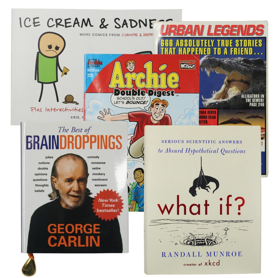 Primary image for Book Bundle The Best of Brain Droppings Arhcie Double Digest Ice Cream & Sadness