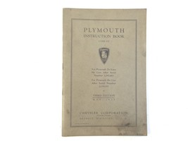 1935 Plymouth Instruction Book (Code PJ) Third Edition OEM Chrysler De Luxe Six - $29.99