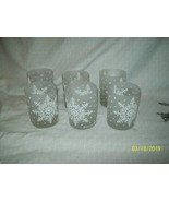 George Briard 6 Signed Snowflake Double Old Fashioned Bar Glasses Frost... - $49.95