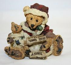 Boyds Bears Kringle & Bailey Christmas Wish List 16E 1994 Bearstone Coll... - $19.79