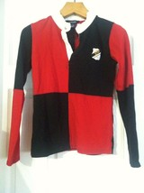 RALPH LAUREN TEENAGE GIRLS PRE-OWNED BLACK/RED 100%COTTON POLO SHIRT SIZ... - $31.32